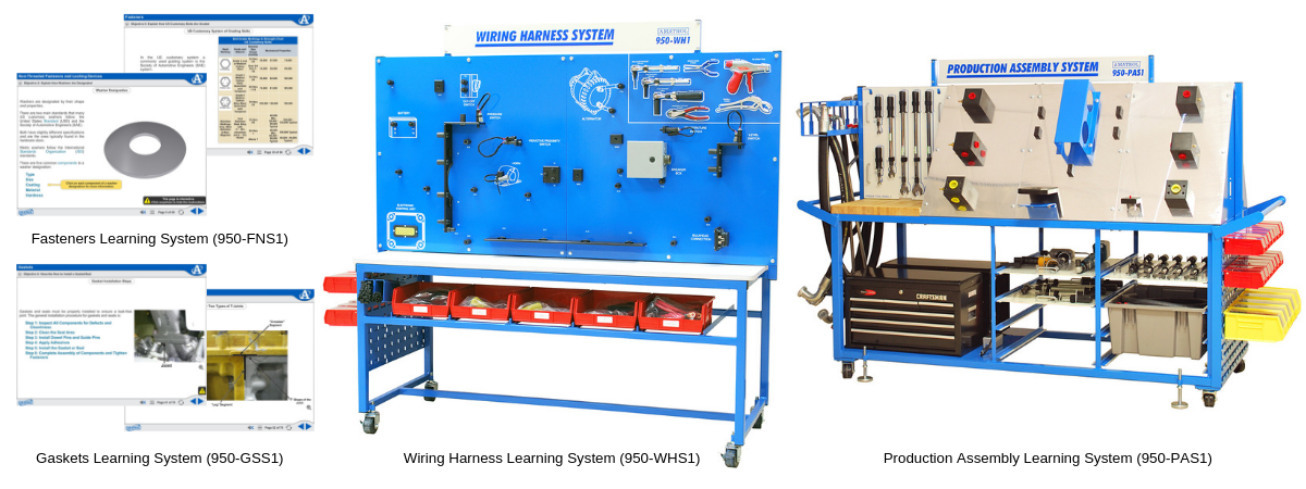 Fasteners, Gaskets, Wiring Harness, Production Assembly Learning System Technical Training