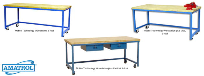 Mobile Technology Workstation (Wood)