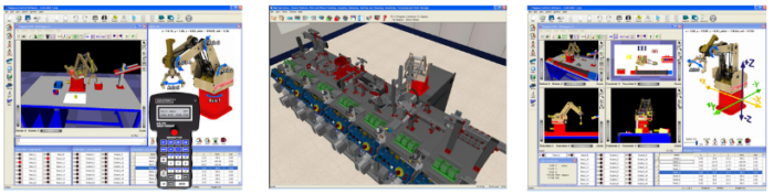 Amatrol Robotics Simulation Software Collage