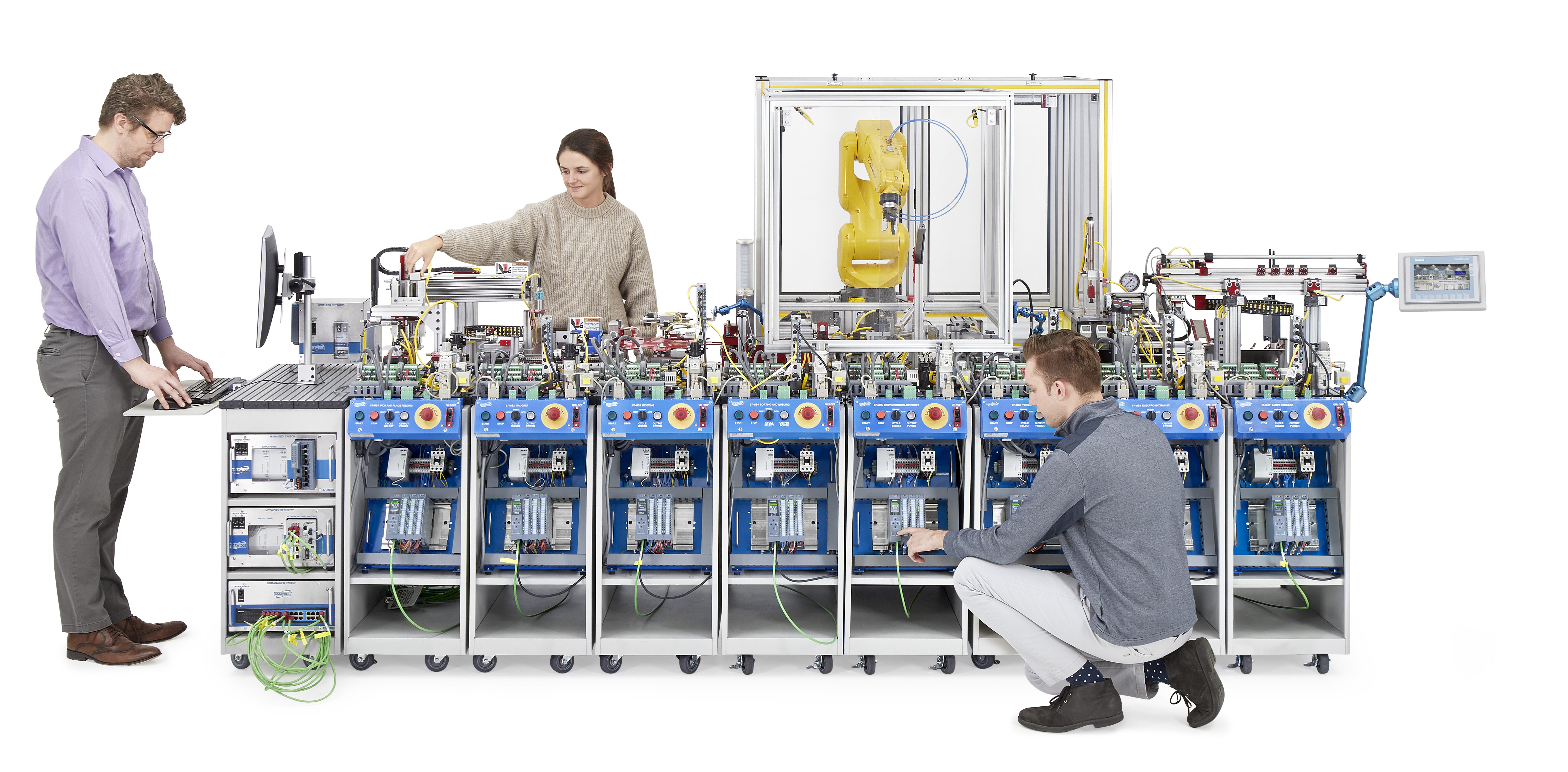 Smart Factory Mechatronics Training System for Automation