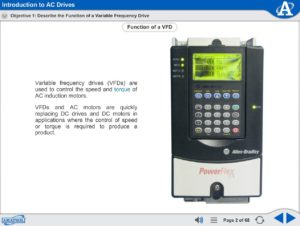 AC Electronic Drives eLearning Course Multimedia Screen Capture - Introduction to AC Drives