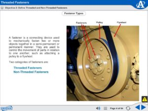 Basic Assembly Skills eLearning Course Multimedia Screen Capture - Threaded Fasteners