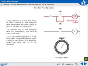 Electronic Counter eLearning Course Multimedia Screen Capture - Timers and Counters