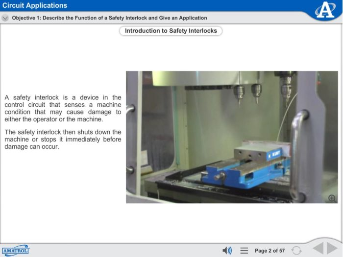 Electro-Fluid Power eLearning Course Multimedia Screen Capture - Circuit Applications