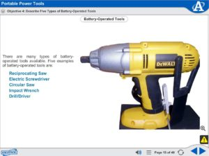 Advanced Assembly Skills eLearning Course Multimedia Screen Capture - Portable Power Tools