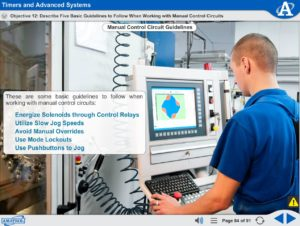 Electric Relay Control eLearning Course Multimedia Screen Capture - Timers and Advanced Systems