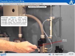 Electrical Wiring eLearning Course Multimedia Screen Capture - Pneumatic Control Circuit Wiring