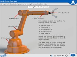 Robot Operation and Programming eLearning Course Multimedia Screen Capture - Basic Robot Operation