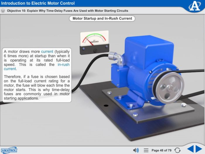 Electrical Motor Control eLearning Course Multimedia Screen Capture - Introduction to Electric Motor Control