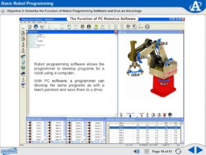Robot Operation and Programming eLearning Course Multimedia Screen Capture - Basic Robot Programming