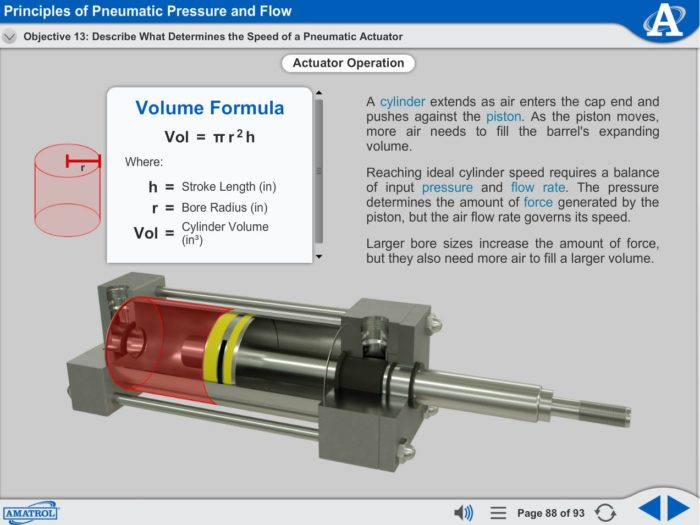 Portable Pneumatics eLearning Course Multimedia Screen Capture - Pressure and Flow