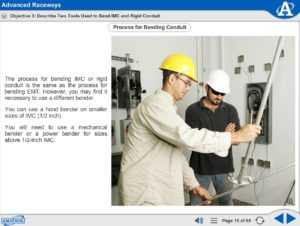 Electrical Power Distribution eLearning Course Multimedia Screen Capture - Advanced Raceways