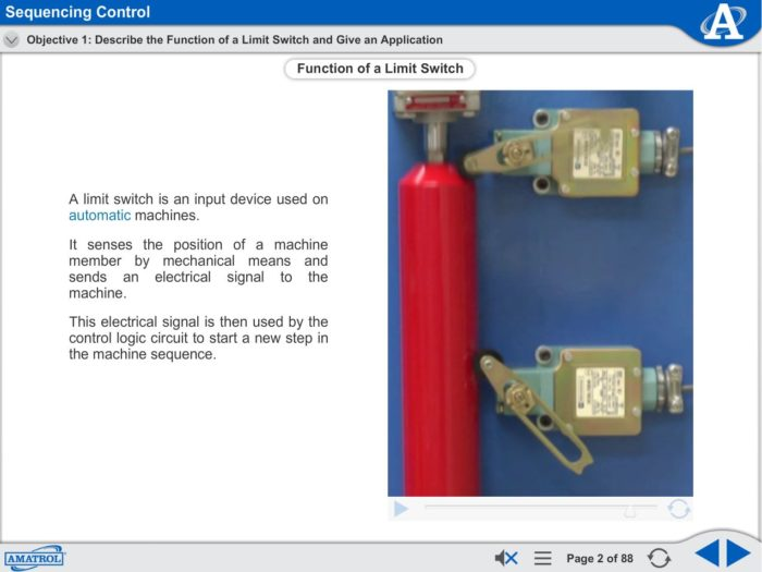 Electro-Fluid Power eLearning Course Multimedia Screen Capture - Sequencing Control