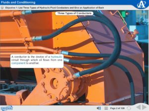 Advanced Hydraulics eLearning Course Multimedia Screen Capture - Fluids and Conditioning