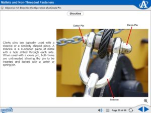 Advanced Assembly Skills eLearning Course Multimedia Screen Capture - Mallets and Non-Threaded Fasteners