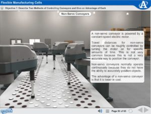 Robot Operation and Programming eLearning Course Multimedia Screen Capture - Flexible Manufacturing Cells