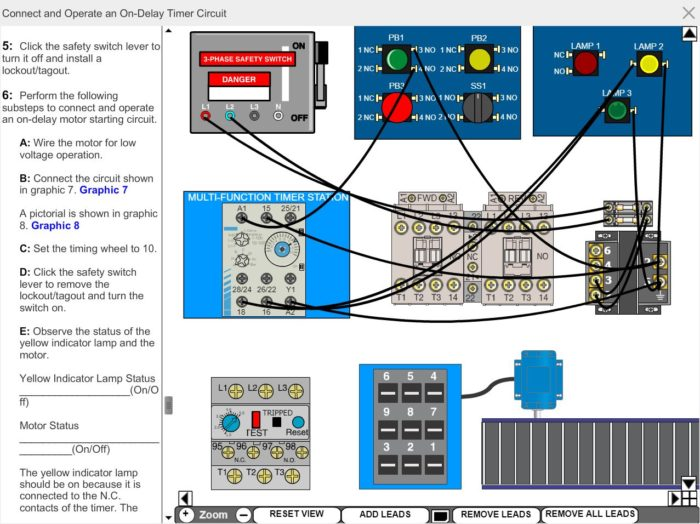 Electrical Motor Control eLearning Course Multimedia Screen Capture - Basic Timer Control