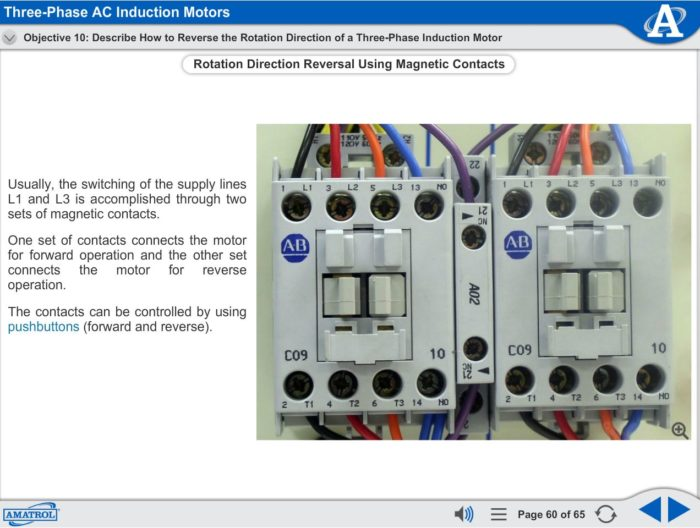 Basic Electrical Machines eLearning Course Multimedia Screen Capture - Three-Phase AC Induction Motors