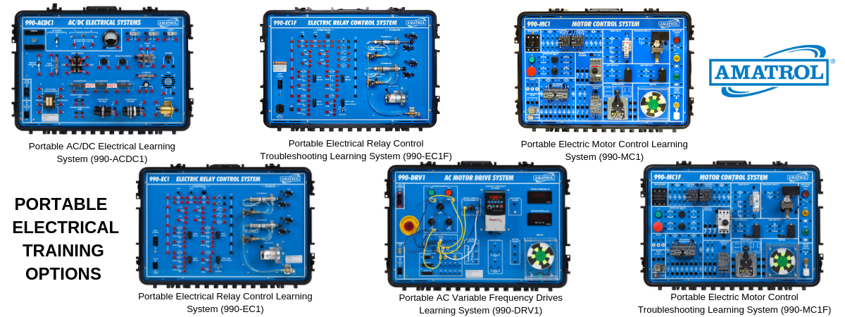 Portable Electrical Trainers for Technical Learning | Control Relays, Variable Frequency Drives, Motor Control, AC/DC