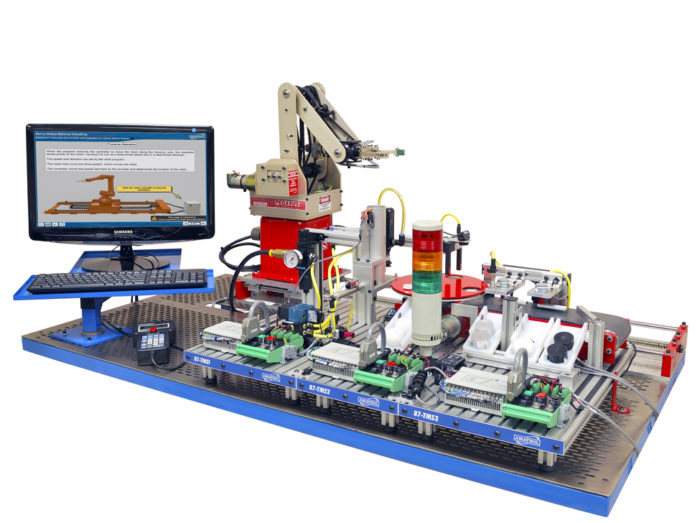 Tabletop Mechatronics Training System with Servo Robot