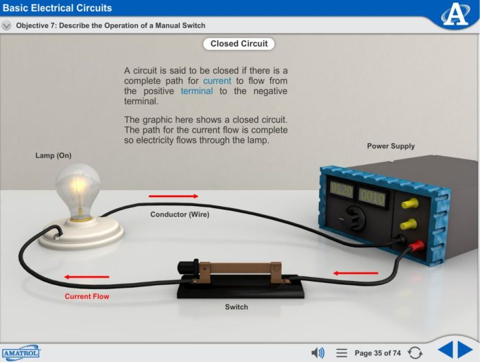 AC/DC Electrical eLearning Course Multimedia Screen Capture - Basic Electrical Circuits