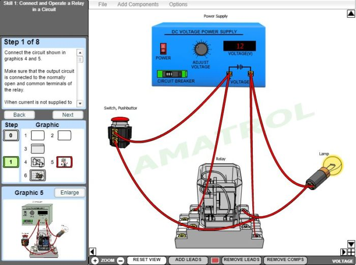 AC/DC Electrical eLearning Course Multimedia Screen Capture - Virtual Trainer