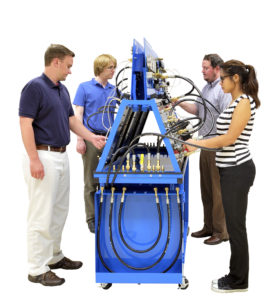 Amatrol 850-HD1 Basic Hydraulics Training System with Double Sided A-Frame Bench