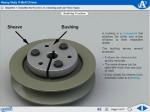 Intermediate Mechanical Drives eLearning Course Multimedia Screen Capture - Heavy Duty V-Belt Drives