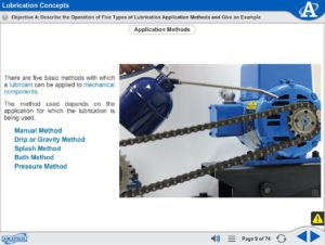 Intermediate Mechanical Drives eLearning Course Multimedia Screen Capture - Lubrication Concepts