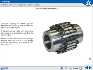 Intermediate Mechanical Drives eLearning Course Multimedia Screen Capture - Couplings