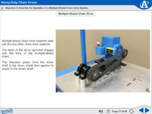 Intermediate Mechanical Drives eLearning Course Multimedia Screen Capture - Heavy-Duty Chain Drives