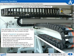 Mechatronics eLearning Course Multimedia Screen Capture - Automation Operations