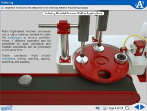 Mechatronics eLearning Course Multimedia Screen Capture - Indexing