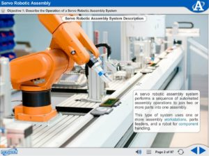 Mechatronics eLearning Course Multimedia Screen Capture - Servo Robotic Assembly