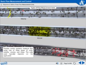 Portable Process Control eLearning Course Multimedia Screen Capture - Basic Flow Measurement and Control