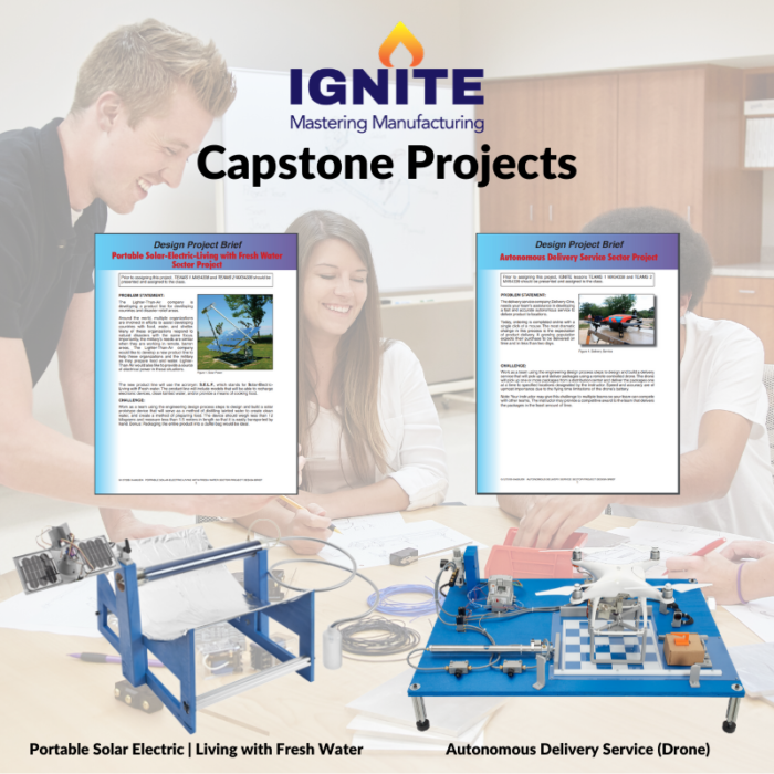 IGNITE Mastering Manufacturing Web Page - Capstone Projects