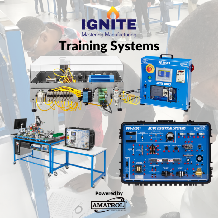 IGNITE Mastering Manufacturing Web Page - Training Systems