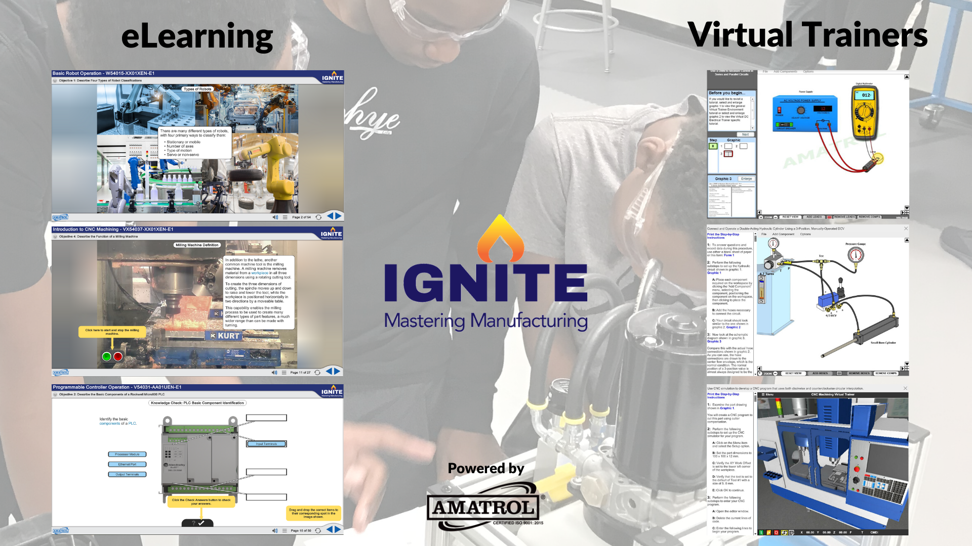 IGNITE Mastering Manufacturing Web Page - eLearning & Virtual Trainers