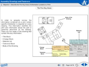 Print Reading | Drawings and Fasteners eLearning