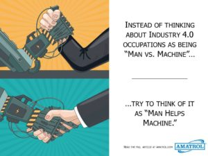 How does Industry 4.0 affect my job? Instead of Man v. Machine, try to think of it as Man Helps Machine