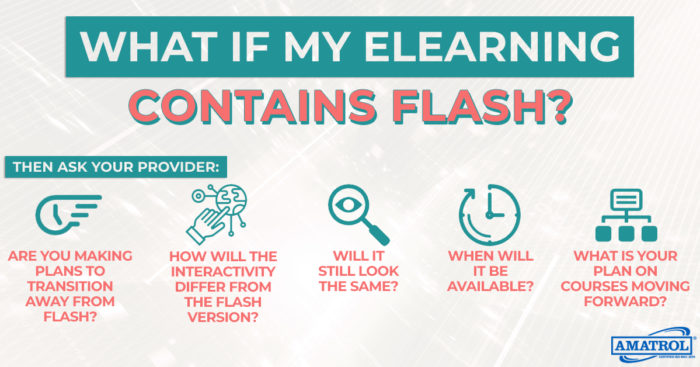 elearning contains discontinue flash