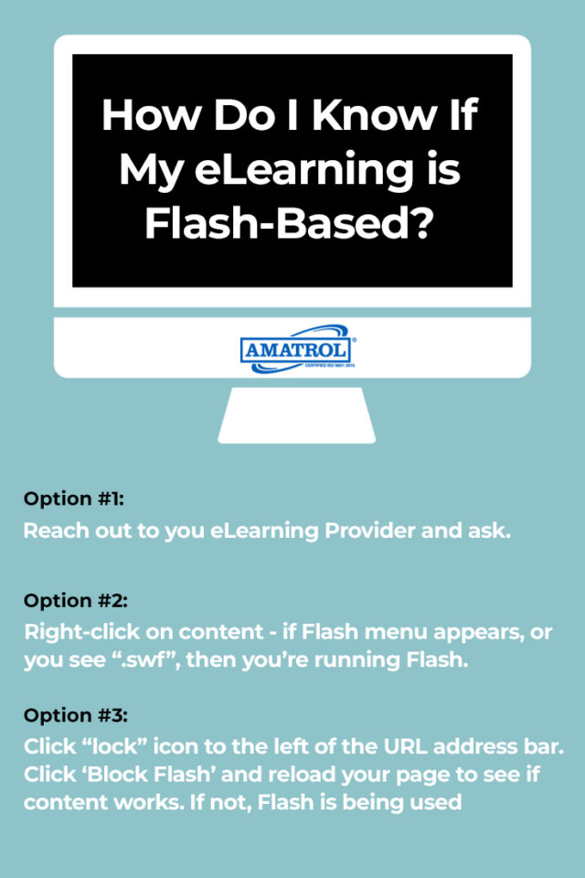 elearning flash discontinue - how do i know?