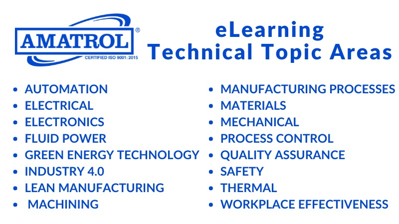 Amatrol eLearning Technical Topic Areas